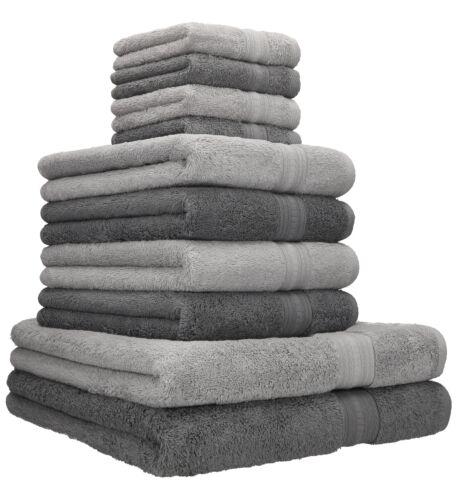Betz 10er toalla set oro 2 duschtücher 4 toallas 4 seiftücher gris