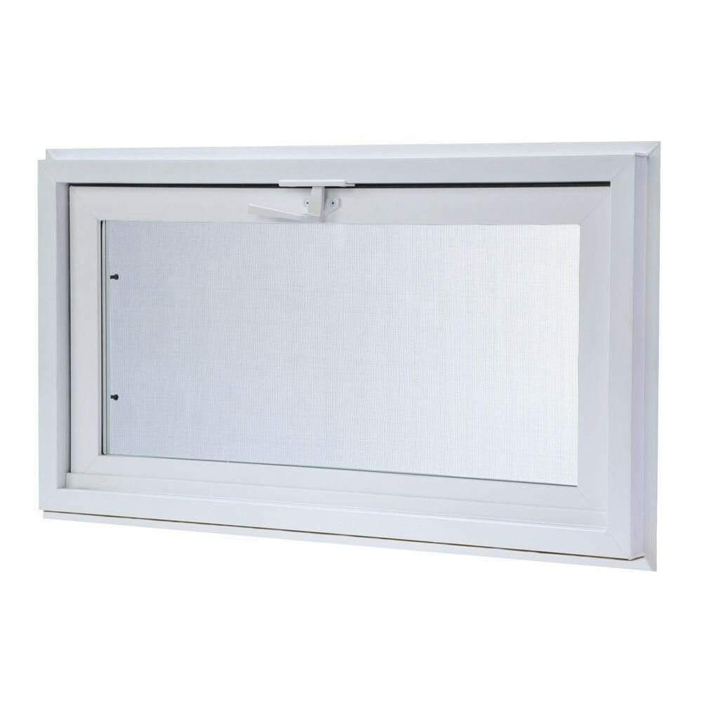 Hopper Vinyl Window Screen Heavy Duty Tilts Inward Insulated Glass 31.75 x15.7