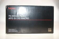 Sigma 70-200mm 2,8 II APO EX DG MACRO HSM Objektiv OVP für Olympus E-5, E-3 usw.