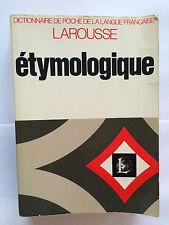DICTIONNAIRE ETYMOLOGIQUE LAROUSSE 1971