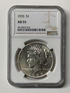 1935-Peace-Dollar-1-US-Silver-Coin-NGC-AU-55