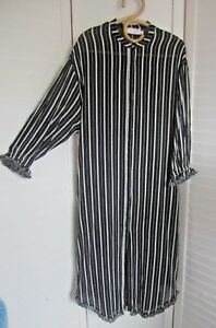 Worn-Once-ZIMMERMANN-Black-White-Stripe-Cotton-Maxi-Dress-Sz-3