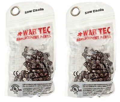 "WAR TEC 16/"" Chainsaw Chain  Pack Of 2 Fits BOSCH AKE40 AKE40S"