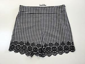 6 12 Crew Gingham Pull-On Shorts NWT Size J