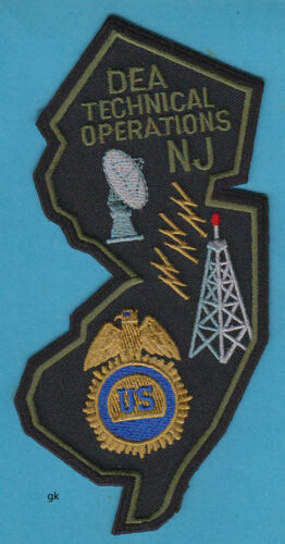 DEA  NEW JERSEY TECHNICAL OPERATIONS POLICE STATE SHAPE  SHOULDER PATCH