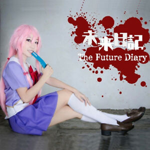 Future Diary Mirai Nikki 2nd Gasai Yuno Gasai School Uniform Cosplay Costume