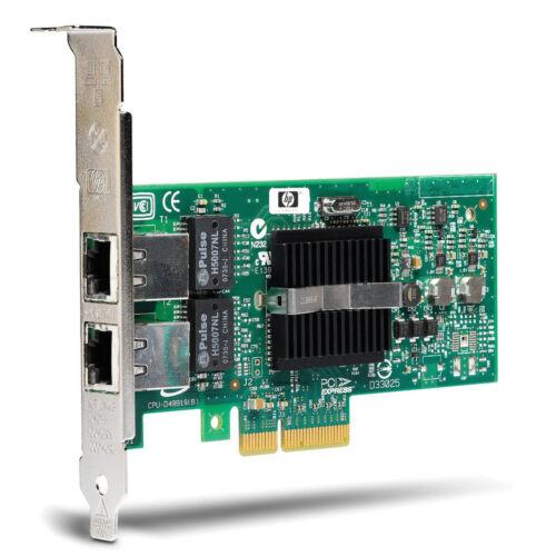HP Gigabit Dual PORT GIGABIT ETHERNET PCIe NIC Card EXPI9402PT NC360T INTEL