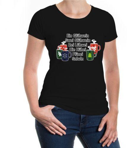 Femmes Manches Courtes Fille T-shirt un vin chaud deux Vin Chaud Noël cadeau