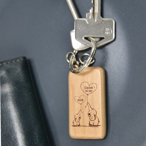 DADDY MUMMY TO BE KEYRING PERSONALISED GRANDA NANNY 60735 FATHERS DAY BABY GIFT