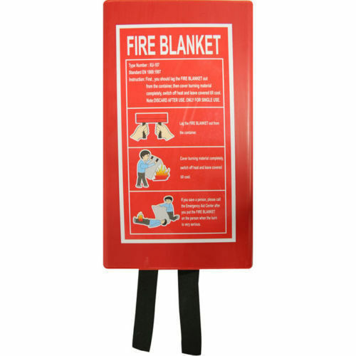 HOME SAFETY FIRE BLANKET PROTECTION 1M X 1M BOX SEA