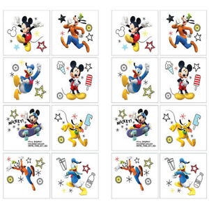 16 Disney Mickey Mouse Clubhouse Temporary TATTOOS Birthday Party ...
