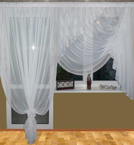 und Fertiggardine NEU AG8-A Gardine aus Voile Top Design Beste Qualität! Balkon