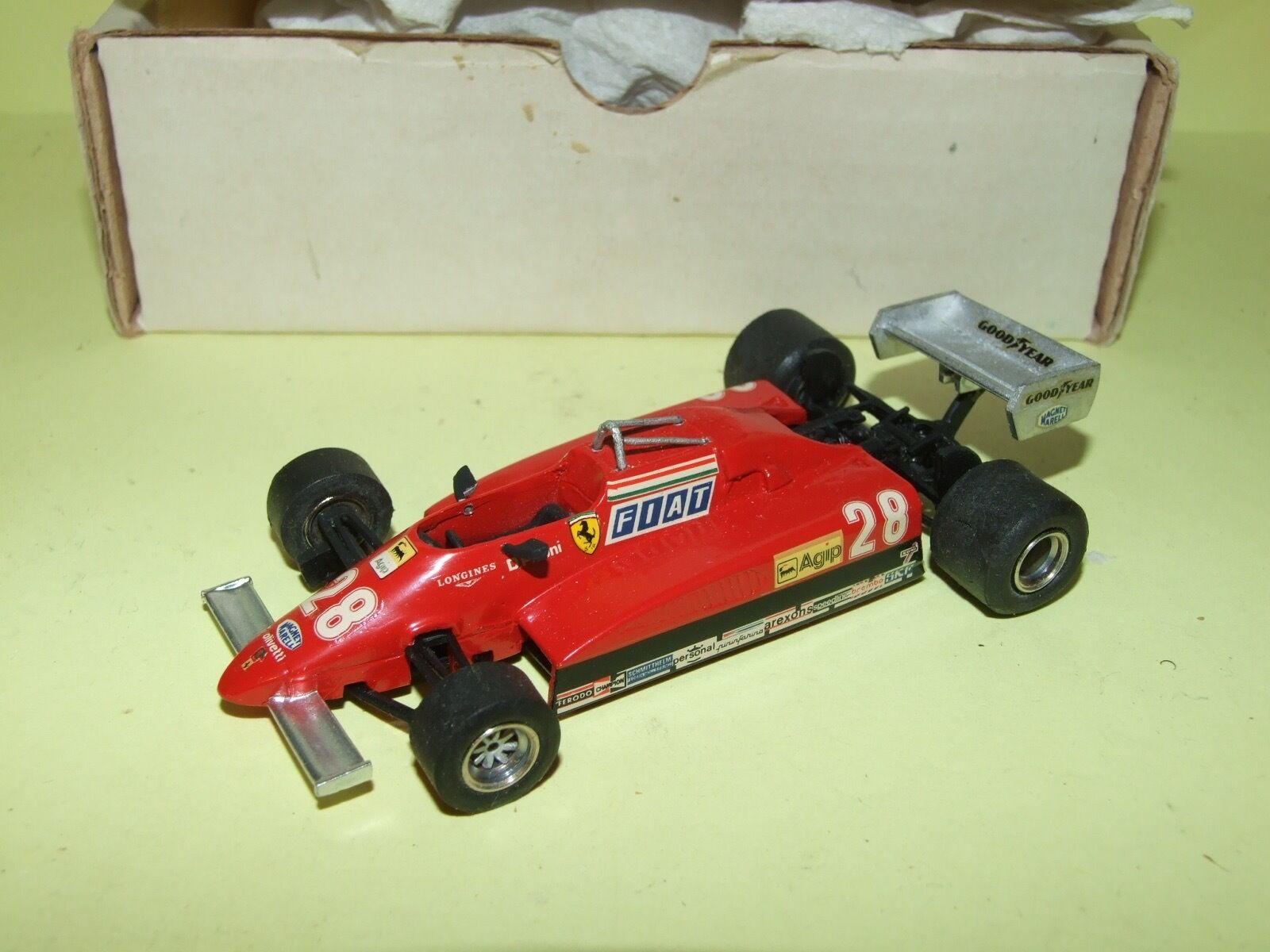 FERRARI 126 C2 1982 PIRONI KIT MONTÉ TENARIV 1 43 Arrivée 2ème championnat