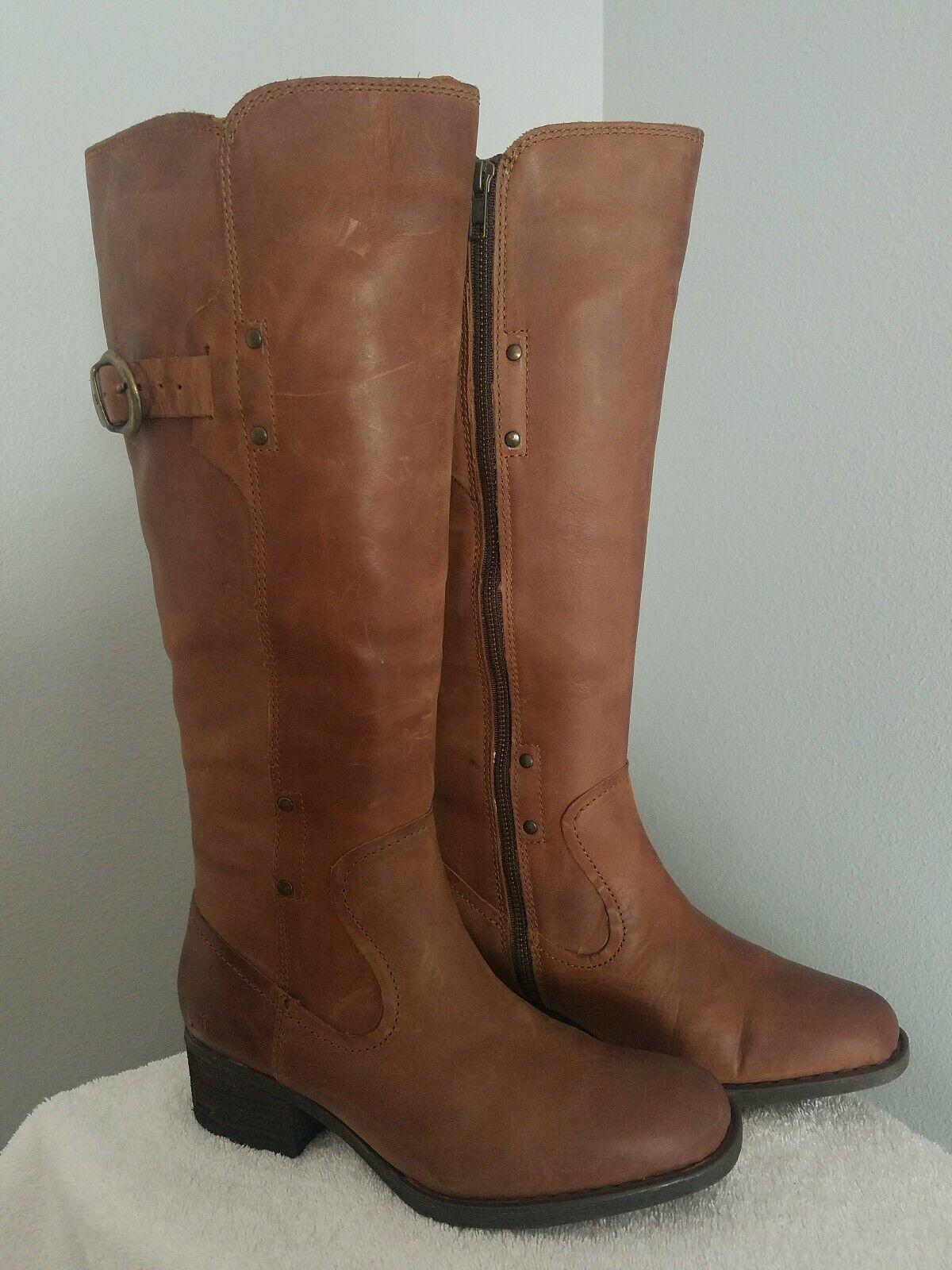 nessun minimo Born F53441 Mercado Lt Marrone Marrone Marrone Leather stivali 7.5M  risparmia fino al 50%