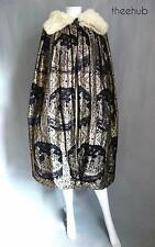 Spectacular Gold Lame Silk  Ermine Vintage 1920s Cape style of Poiret Raoul Dufy