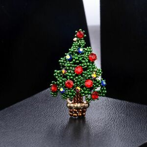 Crystal-Christmas-Tree-Brooch-Pin-Gift-Scarf-Buckle-Collar-Suit-Fashion-Jewelry