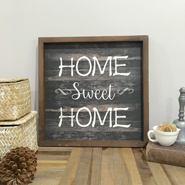 Home Sweet Home Wall Sign/Vintage Style/Wall Panel/Great Gift Idea Housewarming
