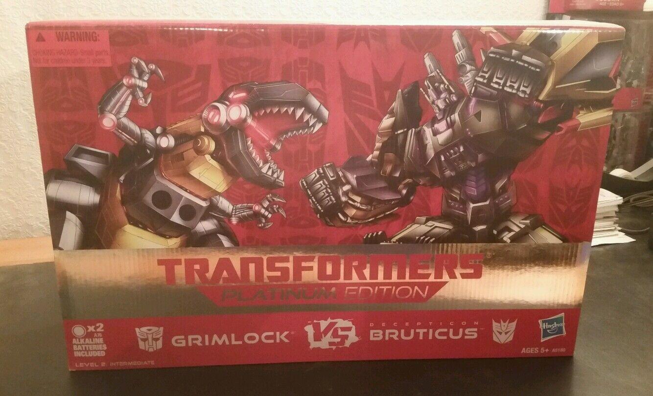 El ultimo 2018 Transformers Grimlock Vs Bruticus Platinum Edition Edition Edition  la calidad primero los consumidores primero