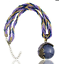 Handmade-Bead-and-String-Purple-Circle-Bohemian-Bronze-Pendant-Necklace-N80 thumbnail 2
