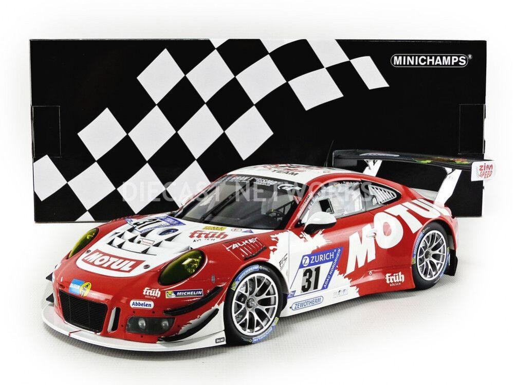 MINICHAMPS - 1 18 - PORSCHE 911   991 GT3 R - 24H NURBURGRING 2017 - 155176931