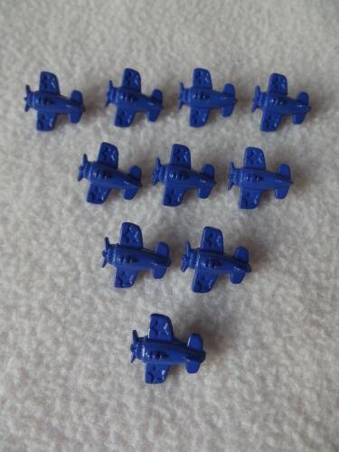 Aprox 15 mm ~ Bebés//Craft 10 X Azul oscuro Botones en Forma de Avión ~ tamaño