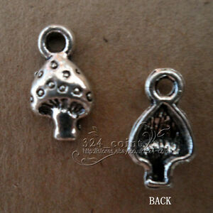 P093-50pcs-Tibetan-Silver-Beads-Charms-mushroom-retro-Accessories-Wholesale