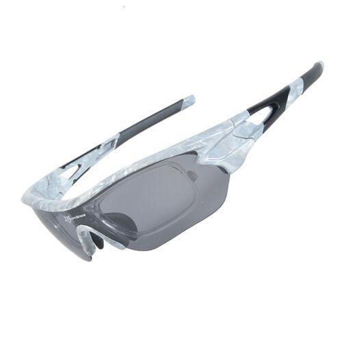 RockBros Polarized Bike Goggles Sunglasses Cycling Glasses UV400 TR90 Frame Gray