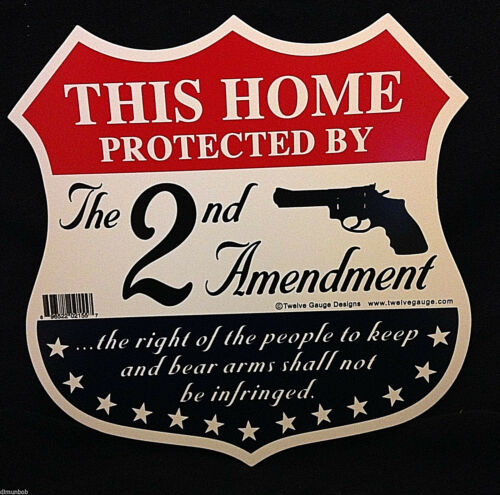 """This Home Protected by the Second Amendment"" Sign and Decals w Free Stickers"