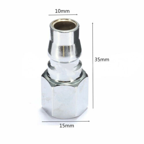10pcs Quick Coupler Fittings 1//4/'/' Air Hose Connector Pneumatic Fitting Plug for