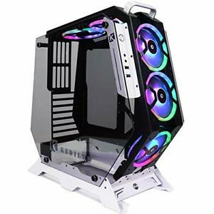 KEDIERS ATX Open Frame Panoramic Viewing Gaming Computer Case Pc...