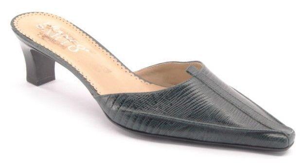 New FRANCO SARTO Women Leather Heel Slide Pointy Toe Sandal Pump shoes Sz 7.5 M