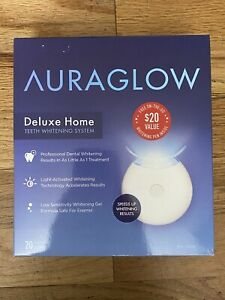 AURAGLOW Deluxe Home Teeth Whitening System (20 Treatments) 03/22