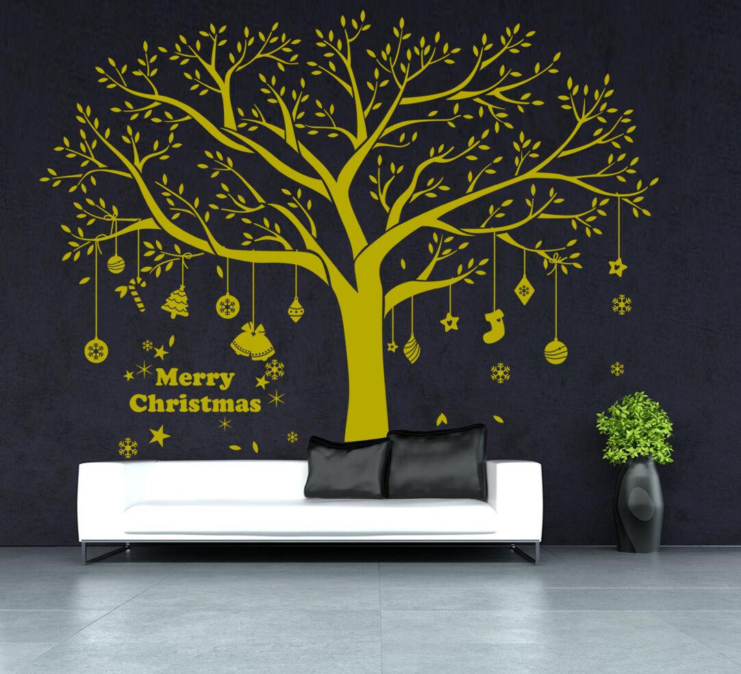 Noël énorme family tree autocollant mural decals vinyle art home decals mural decor uk SH58a d05897