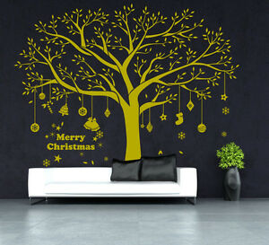 christmas huge family tree wall sticker vinyl art home decals decor