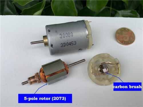 Johnson RS-385-2073 carbono Cepillo Motor DC 6V 12V 18V 24V 20500RPM Rotor de 5 polos