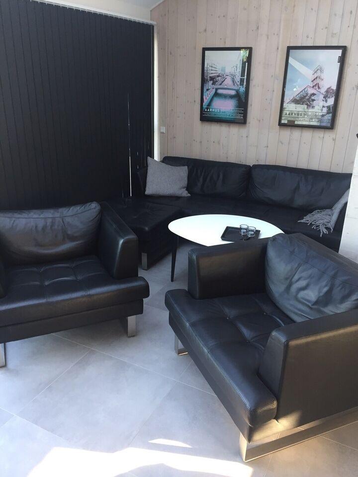 Sofagruppe, læder, Nielaus