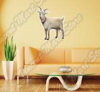 White Goat Farm Animal Farmer Milk Meat Wall Sticker Interior Decor 22x25