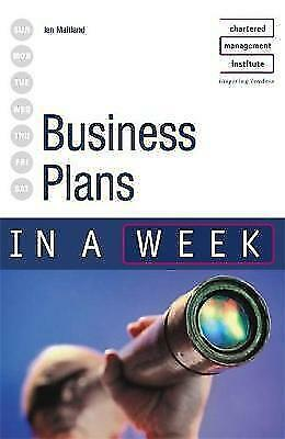 Business Plans in a week 3rd edition (IAW), Maitland, Iain, Very Good Book