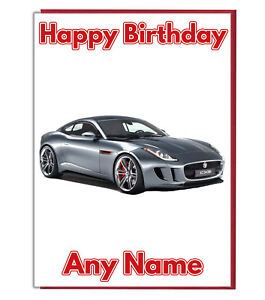 Image Is Loading Personalised Sports Car Jaguar Birthday Card Dad Brother