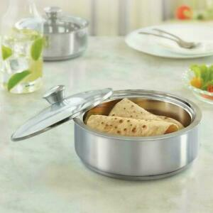Borosil-Insulated-Special-Roti-Server-Stainless-Steel-2-5-Litres-Silver-Color