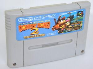 SUPER-DONKEY-KONG-2-Super-Famicom-Nintendo-Free-Shipping-sfc