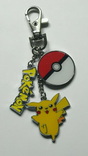 Pokemon keyrings Choice of 12 metal character charms keyrings ONE SUPPLIED