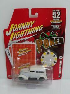 Rare-Johnny-Lightning-Poker-1933-Ford-Delivery-White-Lightning-Chase-Felt-Wheels