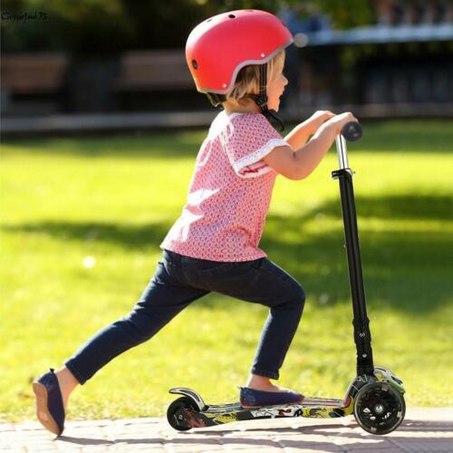 Kinder Scooter Kickboards 3Rad mit LED Räder Tretroller Funscooter Klappbar Neu