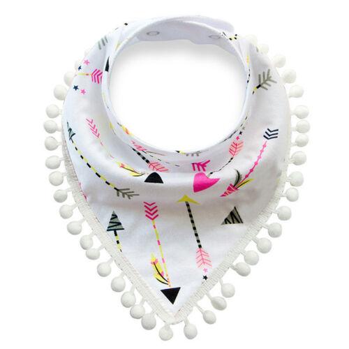 Baby Boy Girls Saliva Towel Bandana Bibs Dribble Triangle Kids Head Scarf S