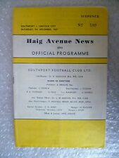 1967 SOUTHPORT v LINCOLN CITY , 9th Dec + with League Review