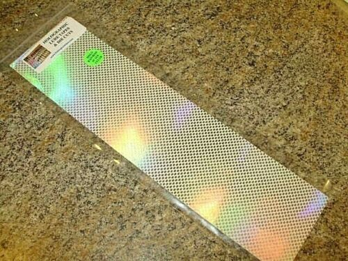"""3/"""" x 12/"""" 2 PK SILVER HOLOGRAPHIC RAINBOW SCALE CLEAR FISHING LURE TAPE NEW!!"""