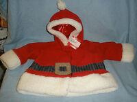 Gund Baby Santa Costume Jacket W/ Hood Infant Size 3-12 Mos Months Christmas
