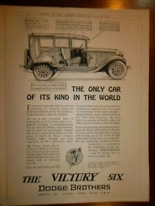 DODGE  Automobile Original Print Ad 1928  -  9 X 11 In  -  Postage Consolidated