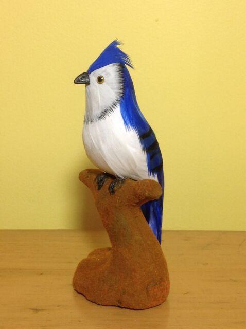 REALISTIC BLUE JAY bird Replica FURRY ANIMAL Prop Toy ck164 FREE SHIPPING USA